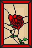 Stained glass rose by saruish