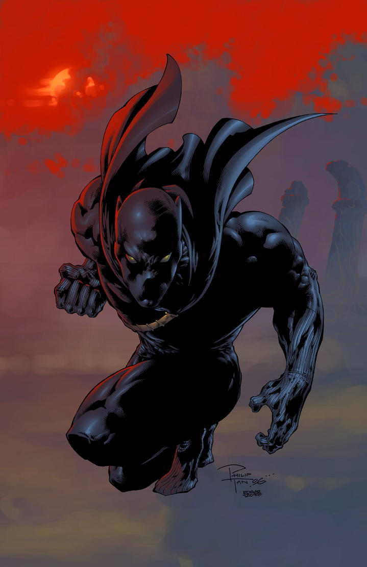 Blackpanther inked and colored by butones