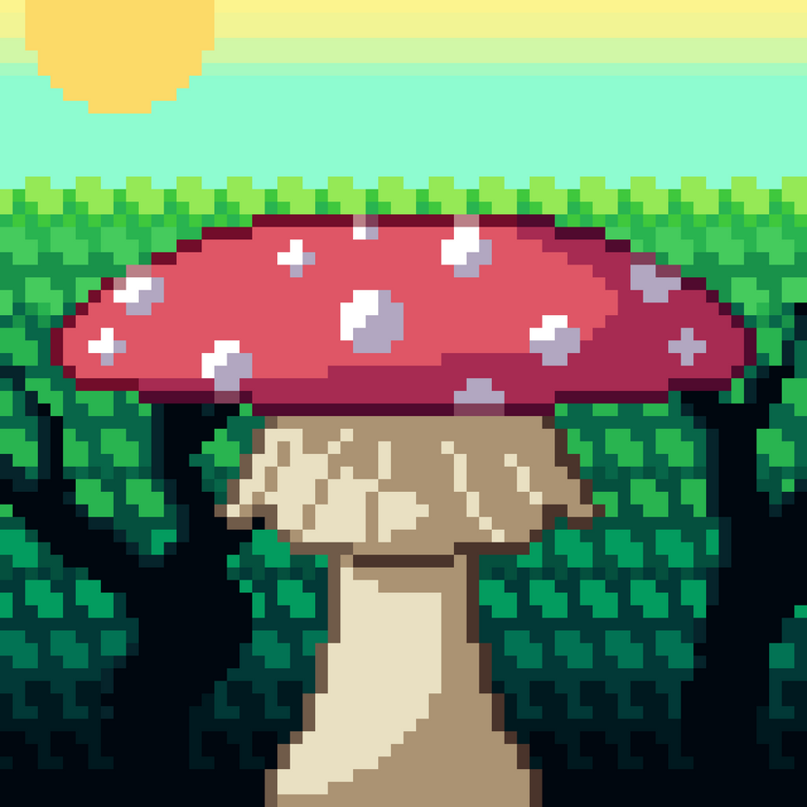Mushroom Forest BIG by RoboticTea