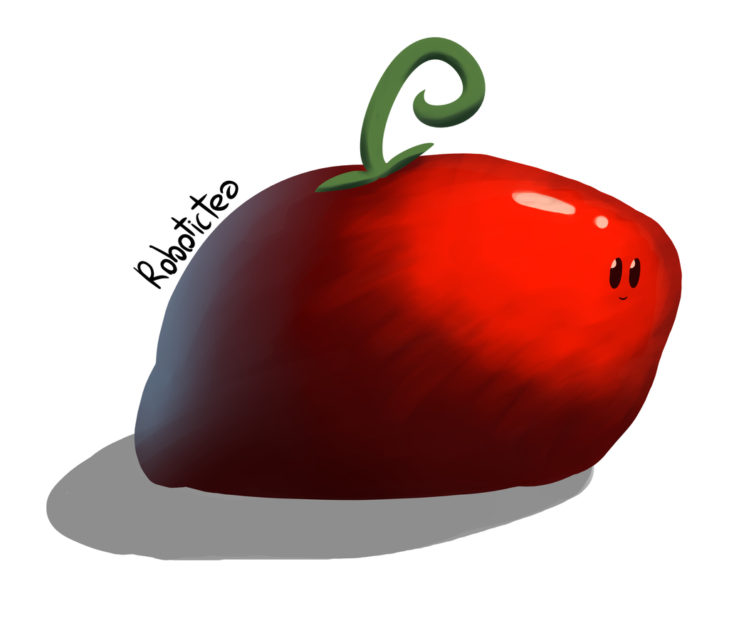 smol but also thicc tomato by RoboticTea