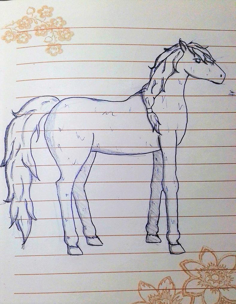 Un caballo by Escama-Morada
