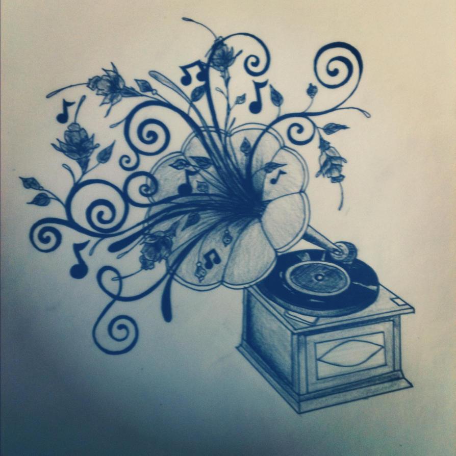 Phonograph Tattoo Designs