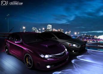 Subaru Impreza WRX vs Mitshubishi Evolution - BPC by RDJDesign