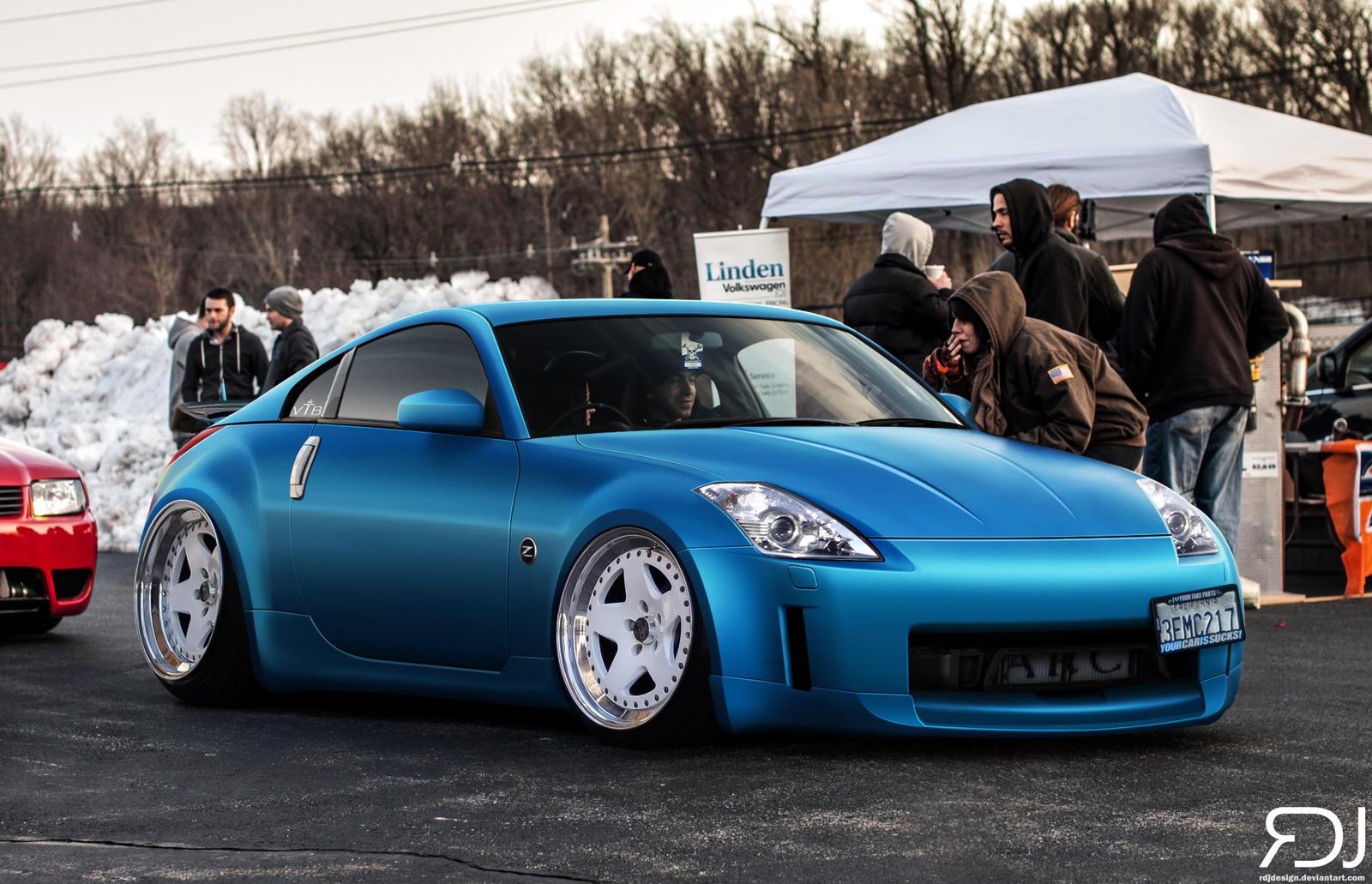 Nissan 350z Blue Matte by RDJDesign on DeviantArt