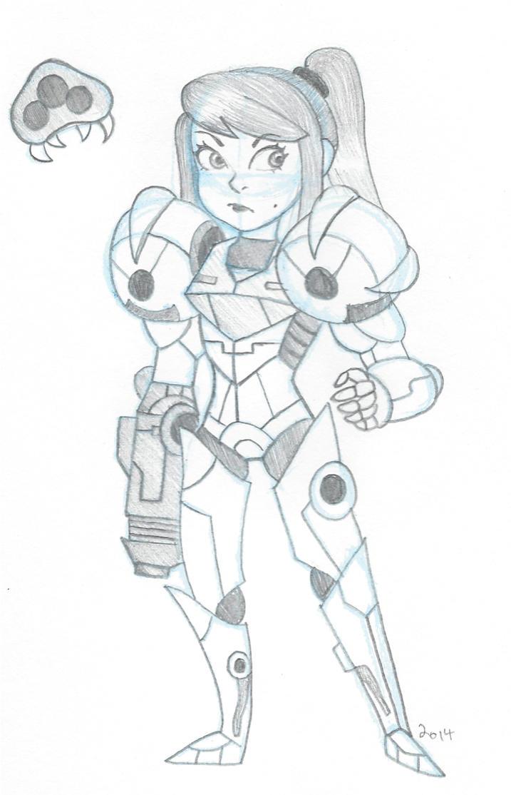 Samus Sketch by VioVi