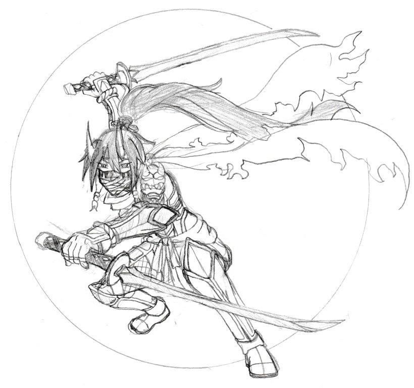 The Blade of Night Tsukimune by Elemtos