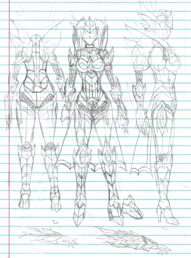 5th form guardian of Water armor design by Elemtos
