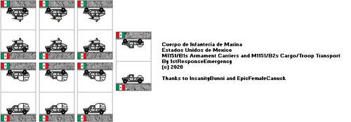 Mexican Naval Infantry Corps Humvees by 1stResponseEmergency