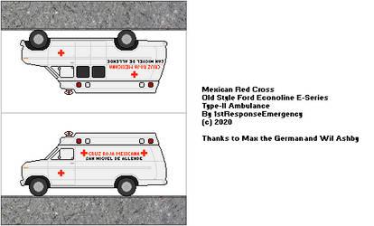 Cruz Roja Mexicana Old Style Type-II Ambulance by 1stResponseEmergency