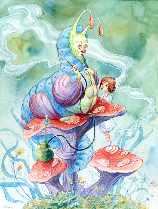 Alice and Caterpillar by AniaMohrbacher