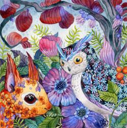 OwlSquirrel by AniaMohrbacher