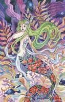 Mermaid of the Purple Sea by AniaMohrbacher