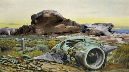 Stranded On Alien Planet by VanCoralArt