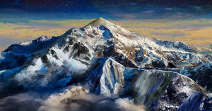 Mountains on alien planet II by Don-de-chocolate