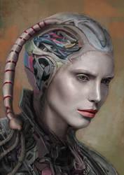 Portrait of a cyborg III by Don-de-chocolate