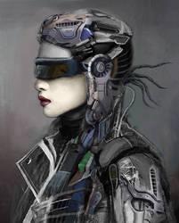 Portrait of a Robot-Soldier