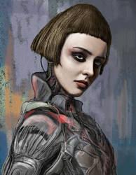 Jeanne d'Arc as cyborg knight