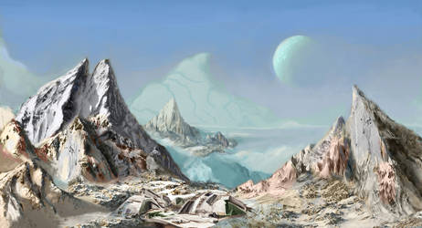 Ruins on ice-planet