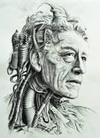 Cyborg Giacometti by VanCoralArt
