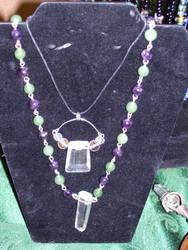 stirling and semi-precious gem by Glowyrm13