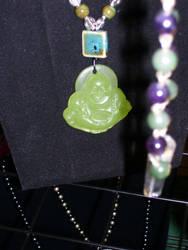 Buddha w/ green ceramic by Glowyrm13