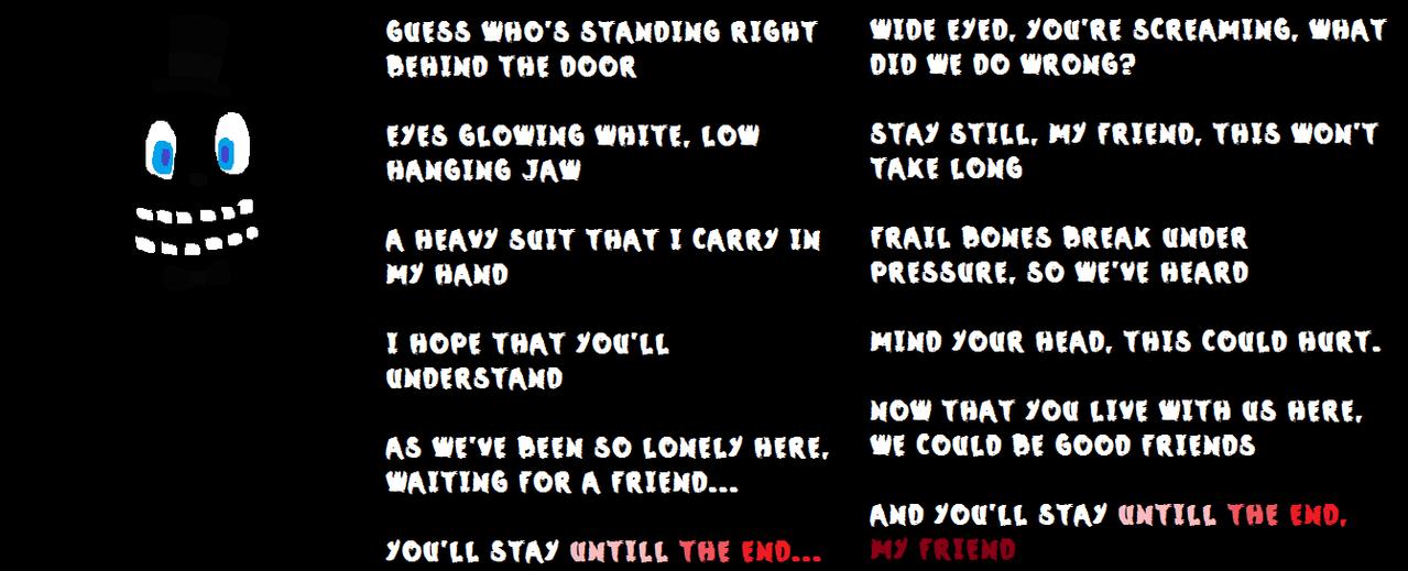 Lyric bones lyrics : Freddy's Jingle by FREDDY-DEATHBEAR on DeviantArt