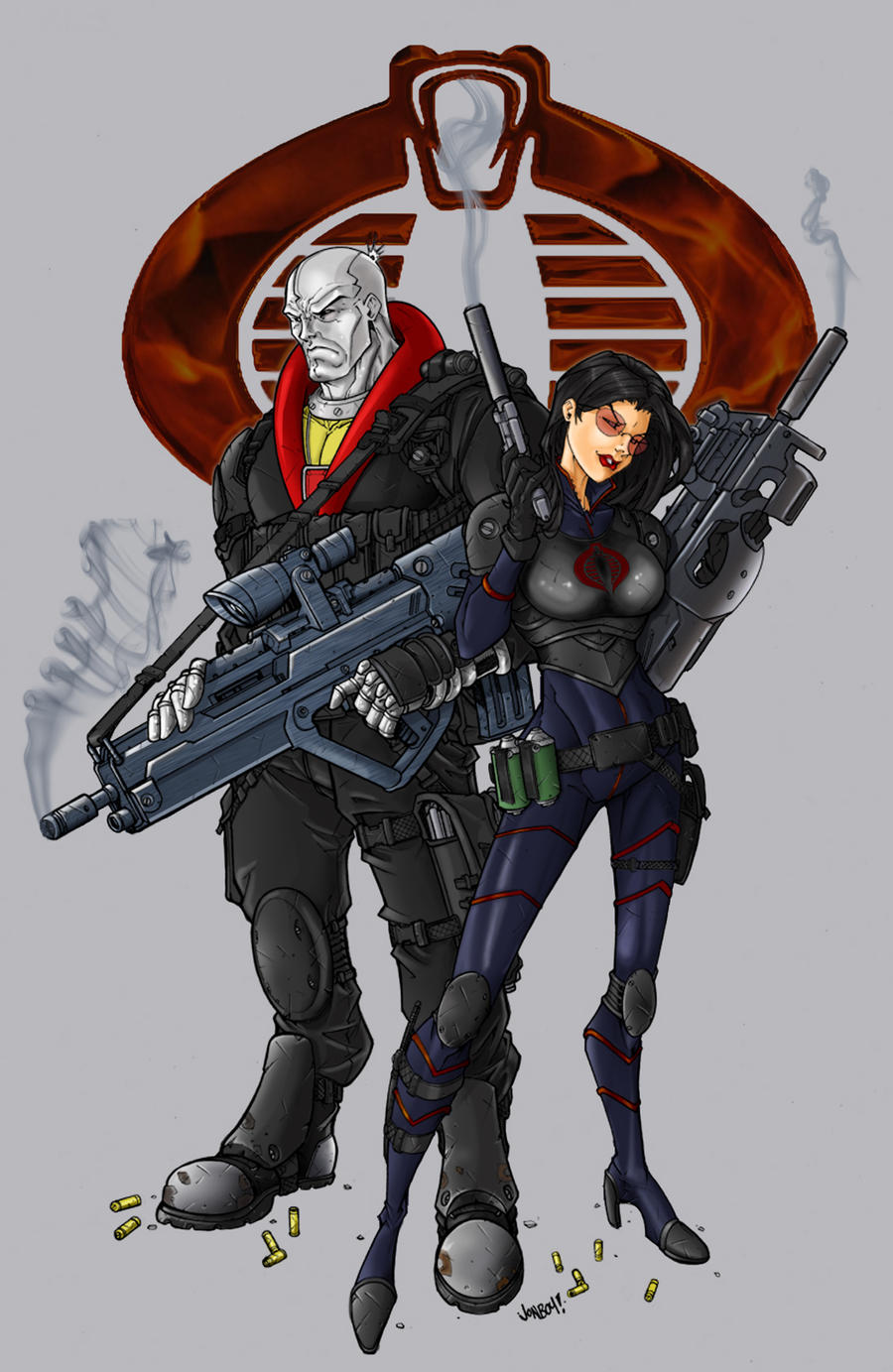Destro and Baroness by firepunk626