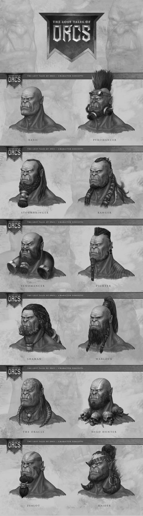 Orc Character Concept by TONEKID