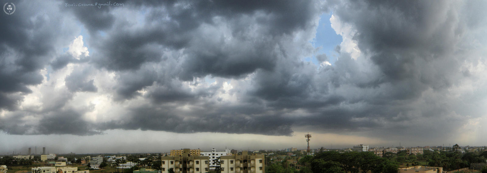 patches of sky by ravivarma