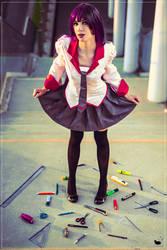 Senjougahara Hitagi cosplay
