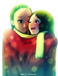 Hugging under a coat