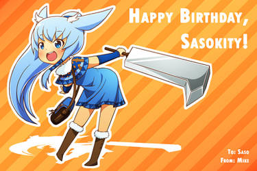 Happy Birthday: Sasokity by Mikeinel
