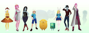 3D Adventure Time Characters