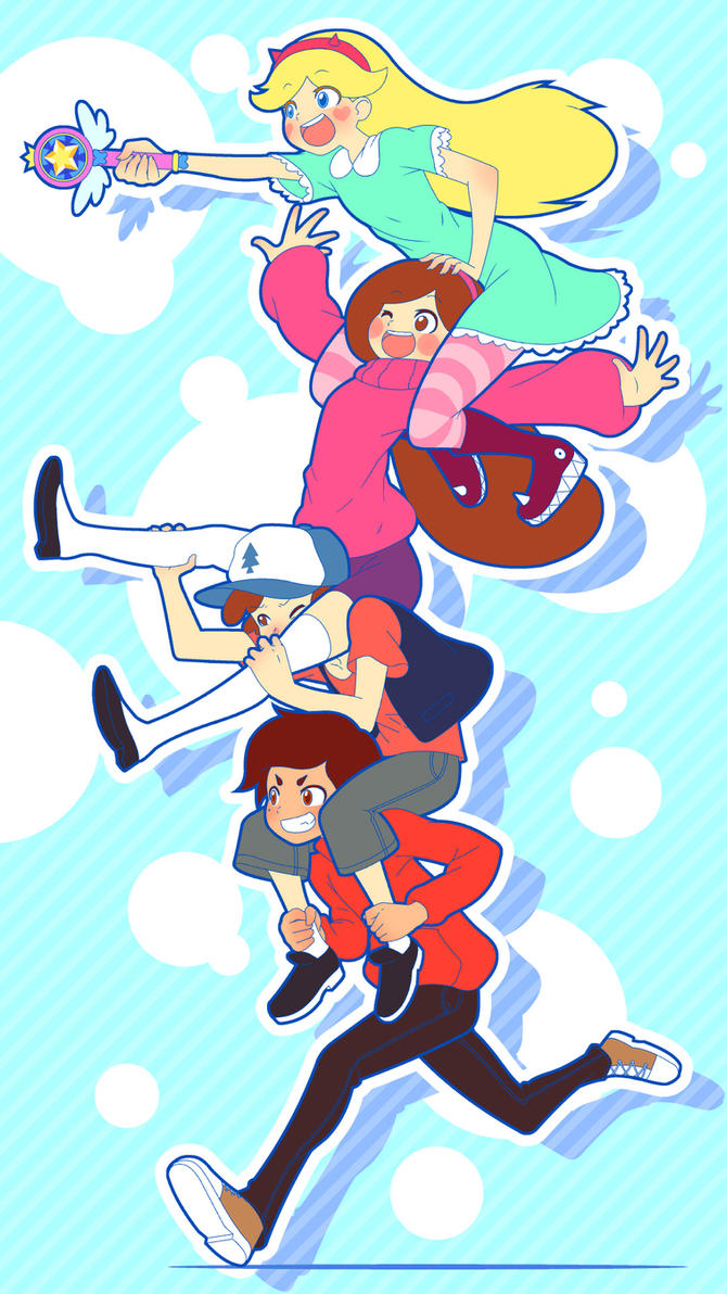 Star + Mabel + Dipper + Marco by Mikeinel on DeviantArt