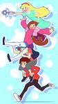 Star + Mabel + Dipper + Marco