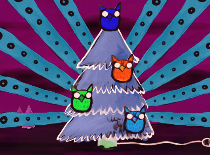 Christmas Owls by SirLemoncurd