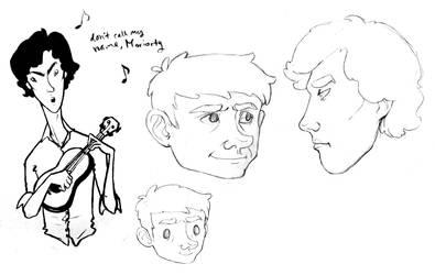 More Sherlock sketches by SirLemoncurd