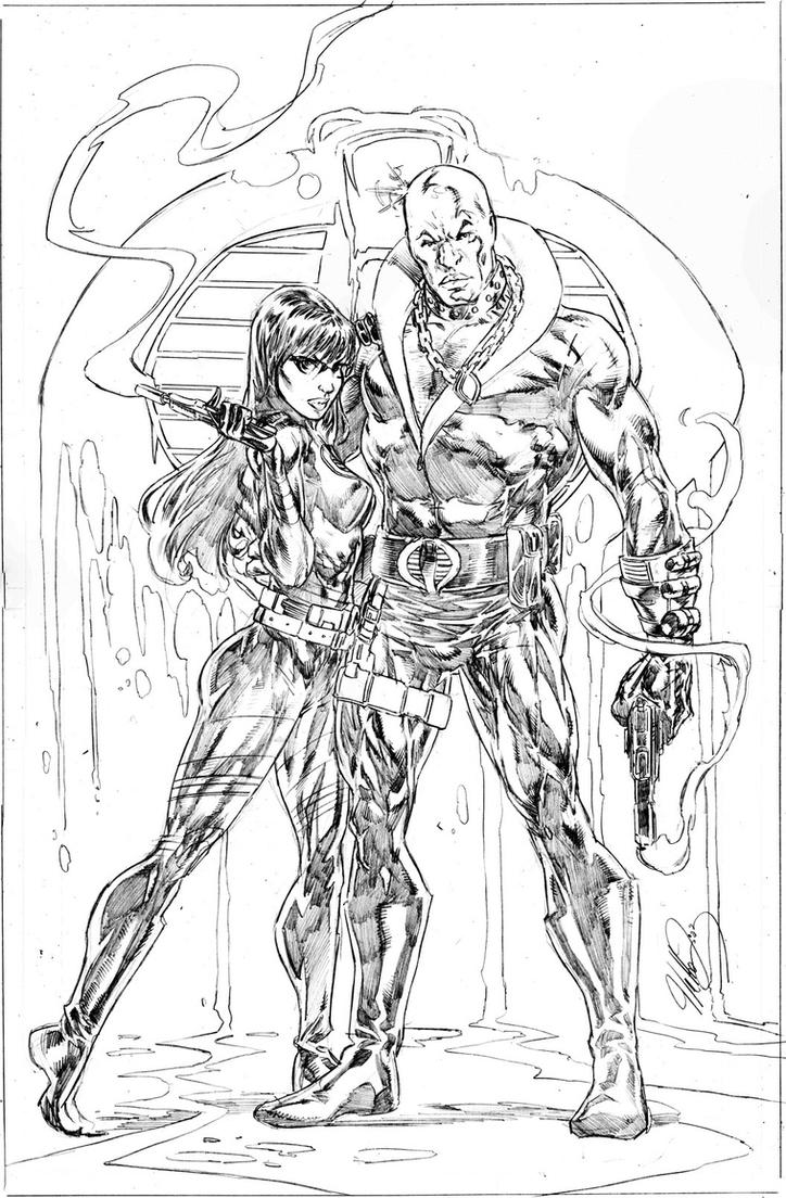 Baroness and Destro by NethoDiaz