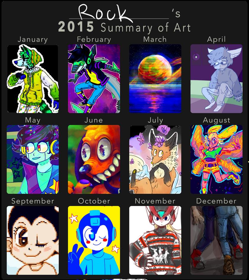 2015 Art Summary by KlonoaOfTheWind