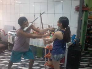 Swords pose-8