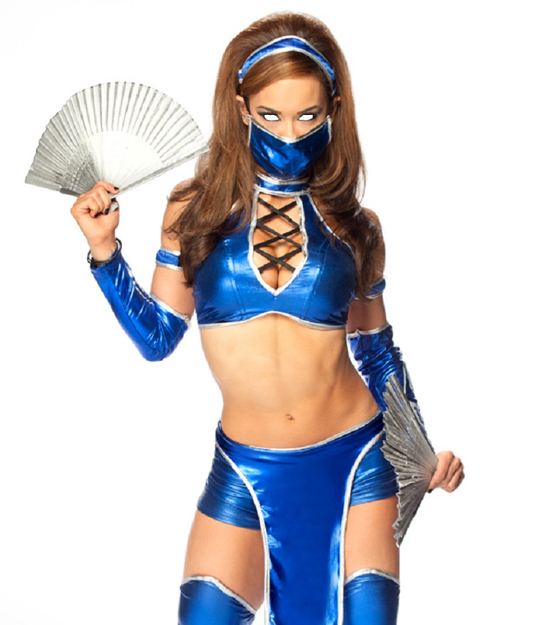 AJ lee as kitana hypnotized by xavier0904