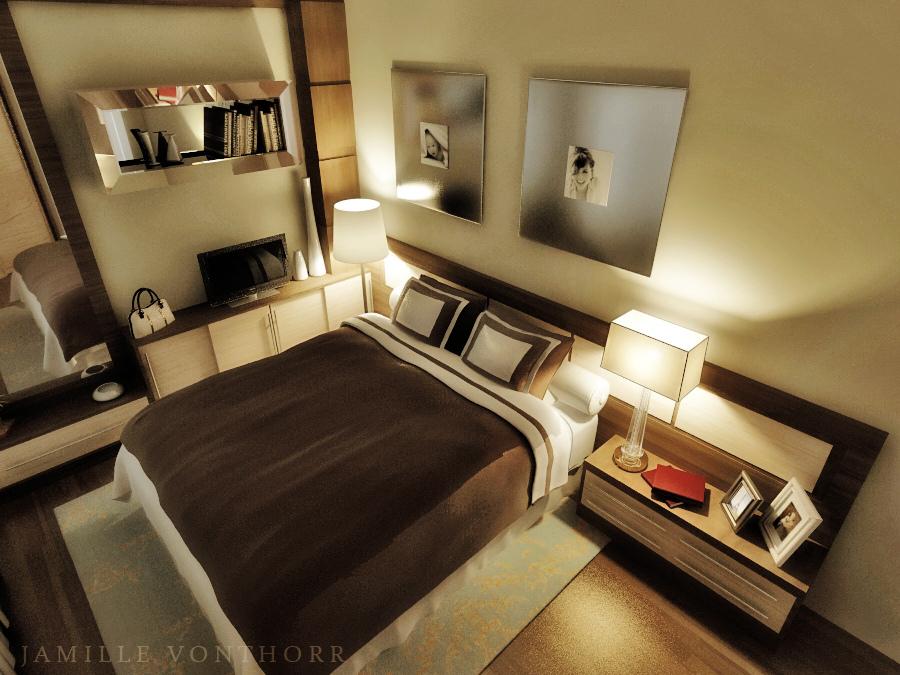Bedroom night by vonthorr