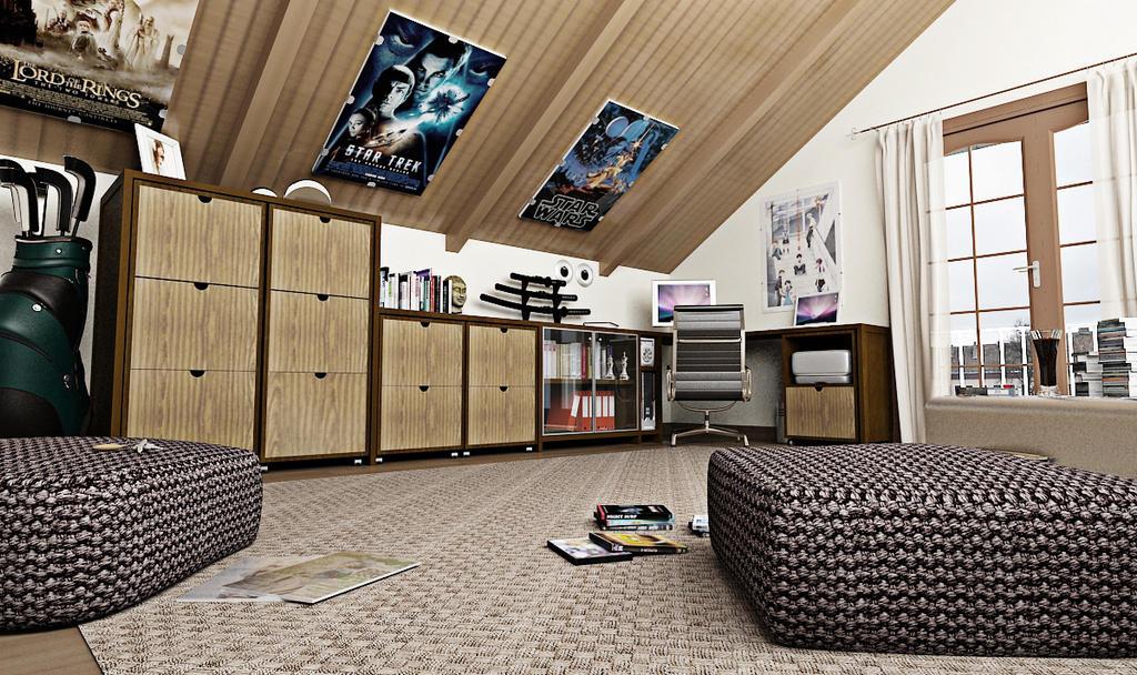 Bedroom Attic by vonthorr