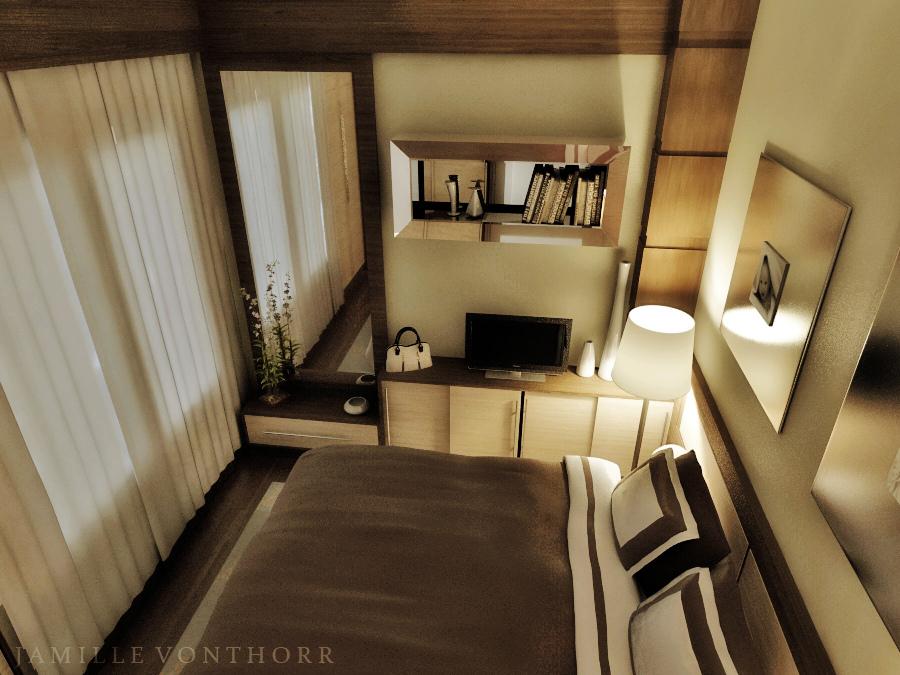 Bedroom night 1 by vonthorr