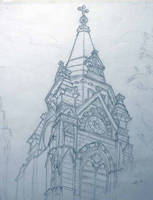 Church steeple at MICA by RobertFenwickMayJr