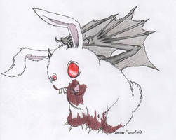 Demented Bunny. by Catnip-War-Criminal