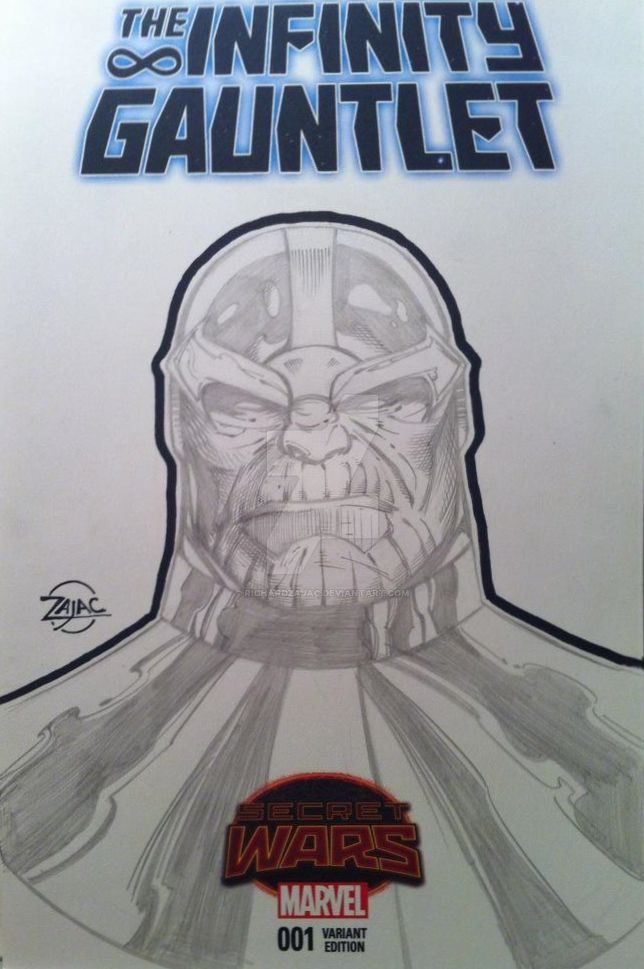 Thanos sketch cover by RichardZajac
