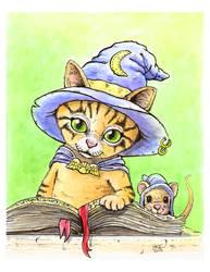 Wizard Kitty by PawWingsArt