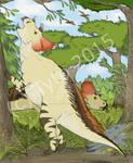 Avaceratops grazing