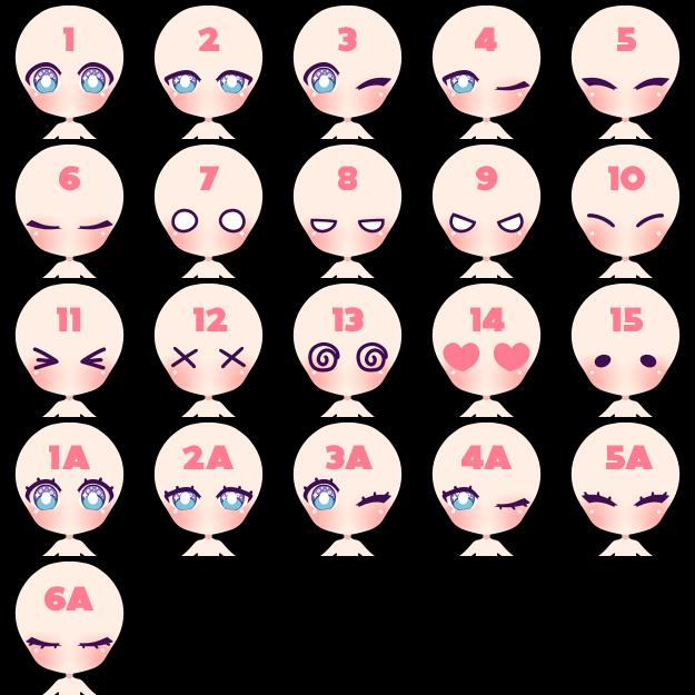 Chibi Icon Base Eyes Ref copy by Jinhii
